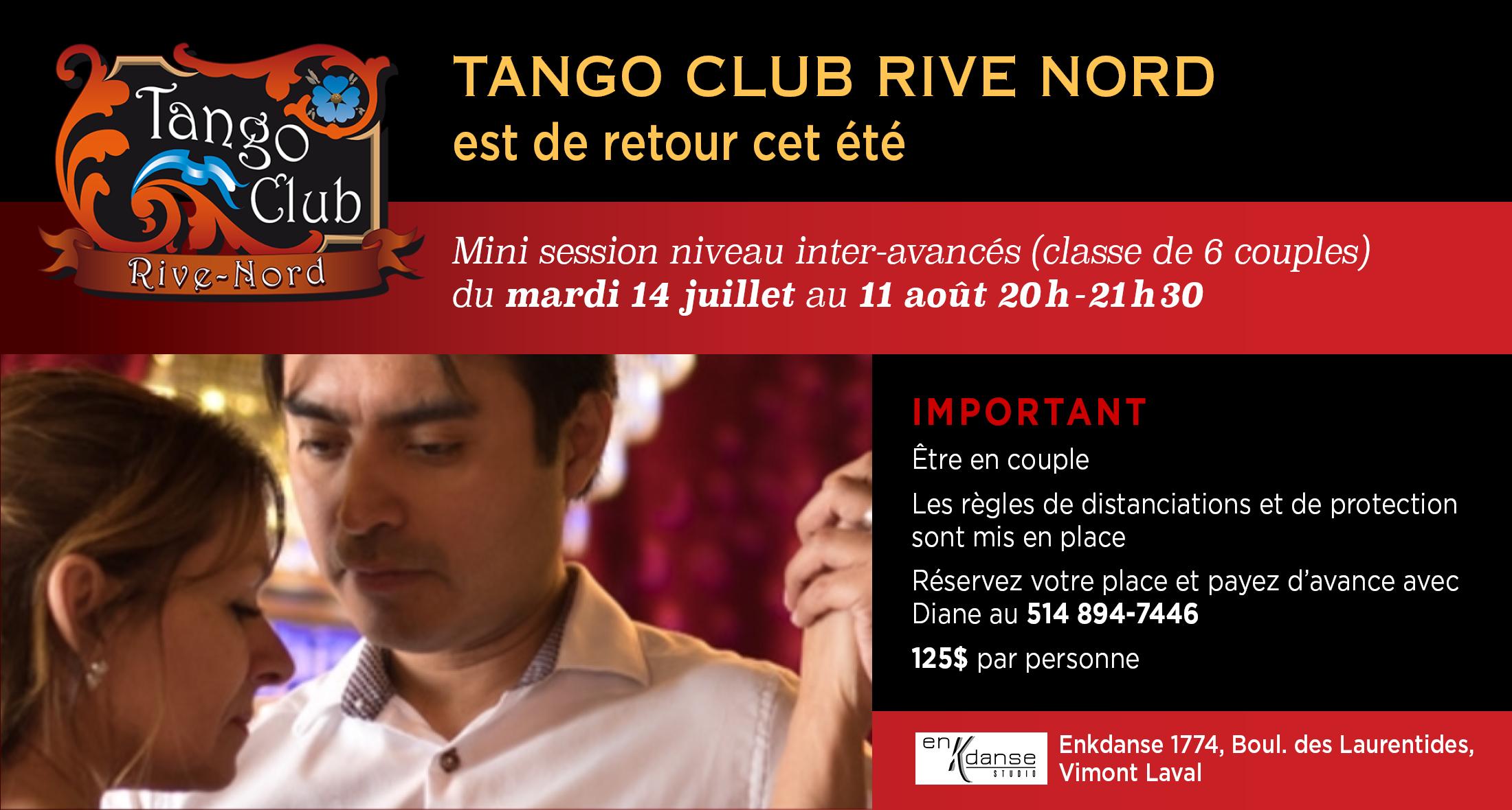 session de tango été 2020